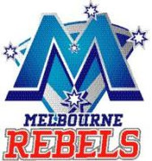 Melbourne Rebels - The logo used by the original Melbourne Rebels team that competed in the Australian Rugby Championship.