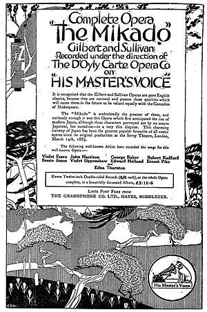 Bessie Jones (Welsh singer) - 1918 advertisement for The Mikado featuring Jones