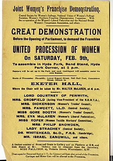 Mud March (suffragists) 1907 demonstration by suffragists in London