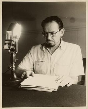 Muhammad Asad - Image: Muhammad Asad addressing Radio Pakistan