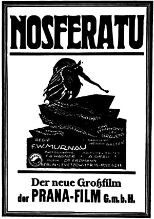 Vampires in popular culture - A promotional poster for the 1922 film Nosferatu.