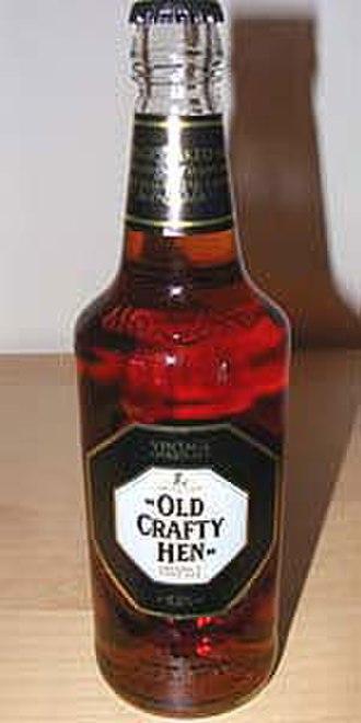 Old Speckled Hen - A bottle of Old Crafty Hen, the super premium version of Speckled Hen