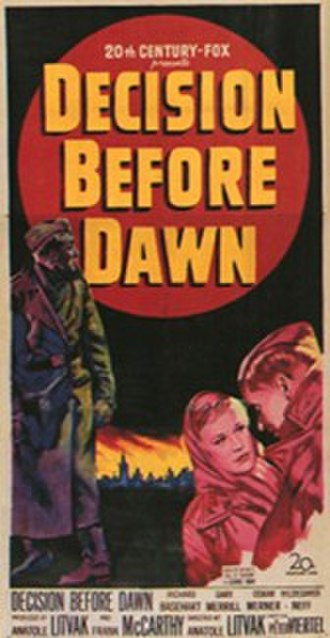 Decision Before Dawn - Theatrical release poster