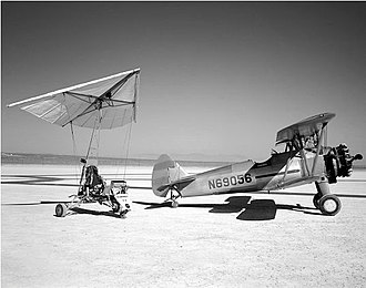 NASA Paresev - Paresev 1-A with tow plane
