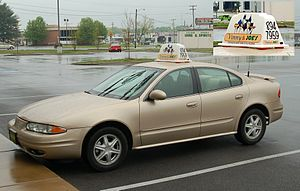 Pizza delivery - An Oldsmobile Alero used to deliver pizza