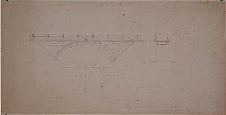 Rooster Bridge - A sketch of the Rooster Bridge by Plečnik (1928)