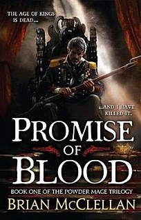 <i>Promise of Blood</i> book by Brian McClellan