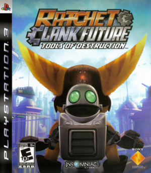 Ratchet & Clank Future: Tools of Destruction - North American PlayStation 3 box art