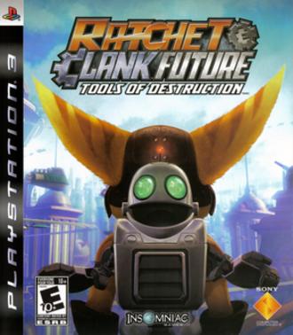 Ratchet & Clank Future: Tools of Destruction - North American PlayStation 3 box art