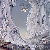 "The cover of Yes' ""Relayer"" album, which depicts a dreamlike, fantasy landscape of an icy world"
