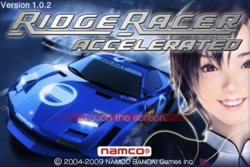 Ridge Racer Accelerated Welcome.PNG