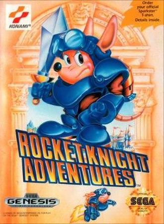 Rocket Knight Adventures - North American Genesis box art