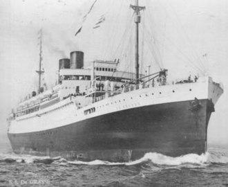 SS De Grasse - SS DeGrasse as originally designed with two funnels. (1924-1947)