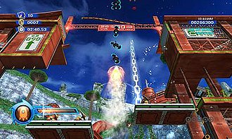 Sonic Colors - Sonic uses the Orange Rocket, one of the eight Wisps in Sonic Colors