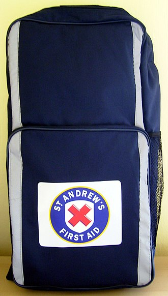 St. Andrew's First Aid - Backpack style first aid kit