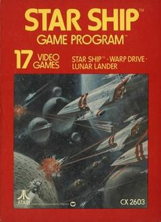 <i>Star Ship</i> 1977 Atari VCS video game port of Ataris Starship 1 arcade game