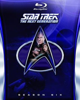 Star Trek: The Next Generation (season 6) - Region A/1 Blu-ray cover art