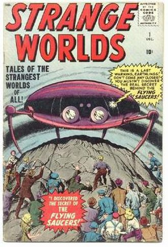 Atlas Comics (1950s) - Image: Strange Worlds 1 Marvel