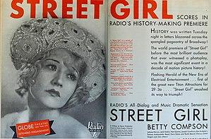 Street Girl - Magazine advertisement for Street Girl