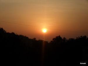 Sun Rise at Baner Hill.