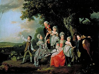 Thomas Bradshaw (MP) - The Bradshaw Family by Johann Zoffany, 1769. The original is at Tate Britain
