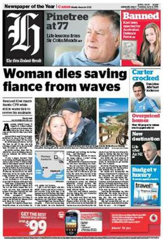 The New Zealand Herald - Front page, 4 June 2013