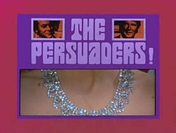 ALT=Series title with images of title characters and girls neck with a diamond neckless