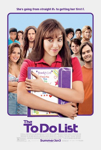 The To Do List - Theatrical release poster