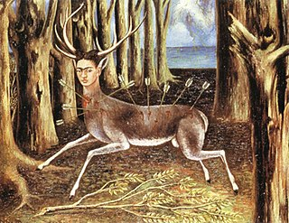 <i>The Wounded Deer</i> Painting by Frida Kahlo