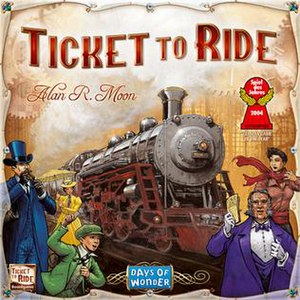 Ticket to Ride (board game) - Image: Ticket to Ride Board Game Box EN