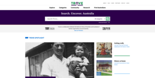 Trove Australian online library database aggregator