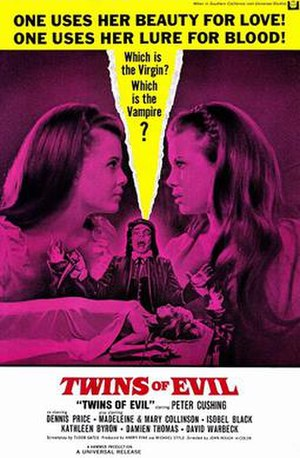 Twins of Evil - Theatrical release poster