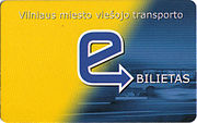 "A sample Vilnius Transport ""E-Ticket"""