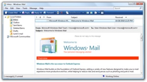 Mail (Windows) - Image: Windows Mail Vista