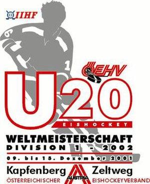 2002 World Junior Ice Hockey Championships - Image: Wjhcd 12002