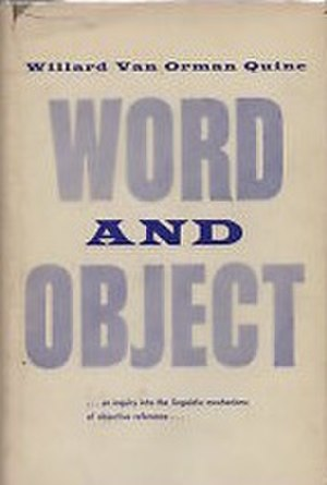 Word and Object - Cover of the first edition