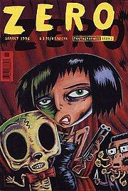 Cover of Zero Zero #12 (September/October 1996), drawn by Max Andersson