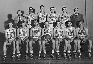 1947–48 Illinois Fighting Illini men's basketball team - Image: 1947–48 Illinois Fighting Illini men's basketball team