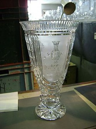 2005 Solheim Cup - The 2005 Solheim Cup trophy, designed by Waterford Crystal.