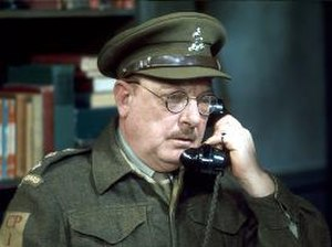 Arthur Lowe - Lowe as Captain Mainwaring in Dad's Army
