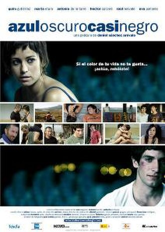 Dark Blue Almost Black - Spanish theatrical release poster