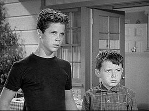 Ward Cleaver - Wally and Beaver Cleaver (Tony Dow and Jerry Mathers).