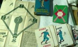 "Baseball (card game) - Early ""Batter-Up Baseball"" deck, c. 1949, with instruction sheet/diamond diagram"