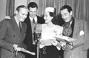 The Screen Guild Theater - Jack Benny, George Murphy, Joan Crawford and Reginald Gardiner on the premiere of  The Screen Guild Theater (January 8, 1939)