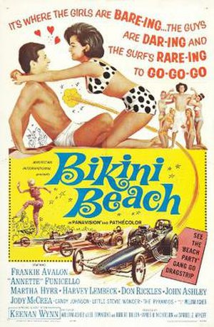 Poster for Bikini Beach, one of the early Beac...