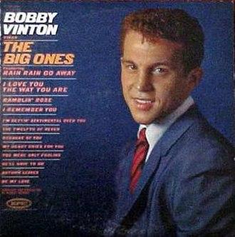 Bobby Vinton Sings the Big Ones - Image: Bobbyvintonthebigone s