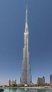 Burj Khalifa Skyscraper in Dubai, United Arab Emirates