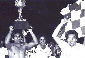 C.F. Monterrey - Club celebrating their first league title in 1986.