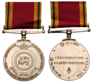 Ceylon Armed Services Inauguration Medal