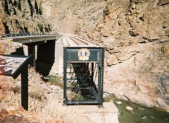 Black Canyon of the Gunnison National Park - Preserved rail bridge over Cimarron Creek